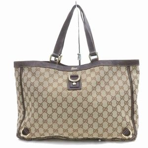 Auth Gucci Light Brown Canvas Hand Bag #2348G12